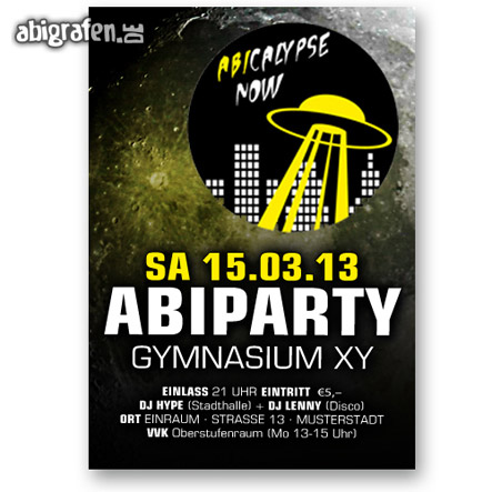 Abishop: Flyer Abiball oder Abiparty