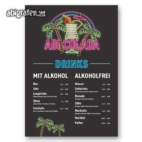 Abishop: Getränkekarten Abiball oder Abiparty
