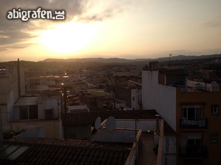 Ein schöner Sonnenuntergang auf unserer Abireise nach Spanien