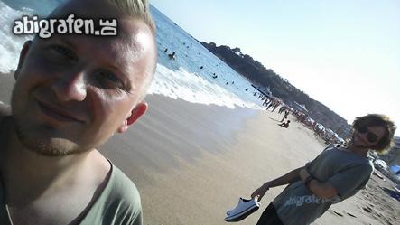 Der Strand von Lloret de Mar auf unserer Abireise nach Spanien