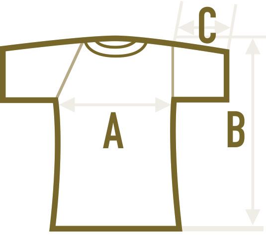 Abishirt Abschlussshirt Fairtrade-Shirt Maße