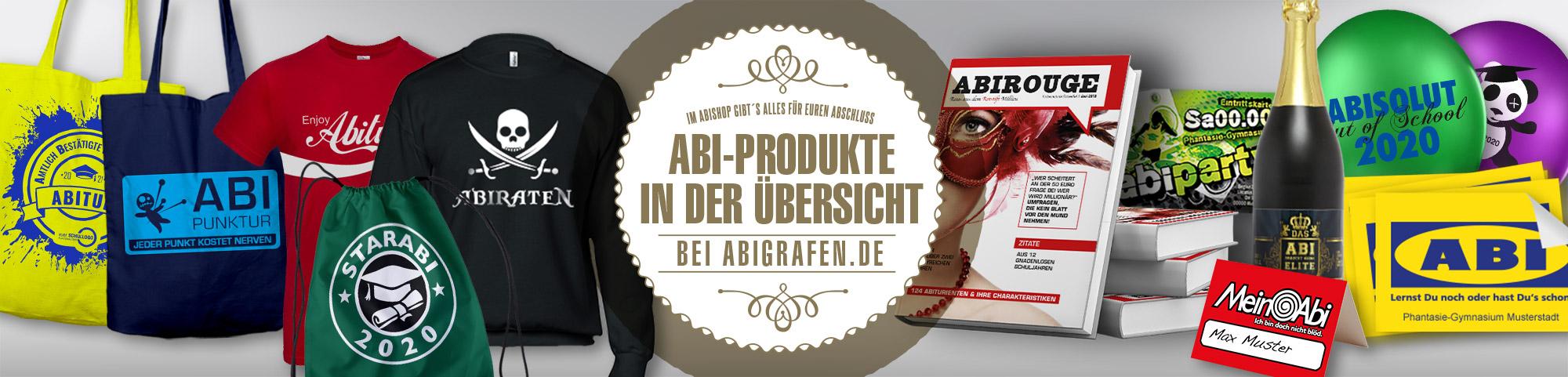 Abishop mit Drucksachen für Abiturienten und Abschlussklassen: alle Abi Produkte in der Übersicht