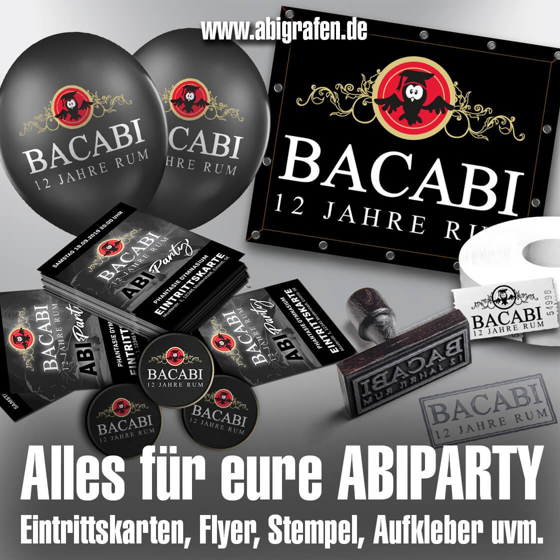 Abishop: alles für Abiparties & Vofi-Feten: Flyer, Ballons, Poster, Eintrittskarten, Banner, Wertmarken, Stempel…)