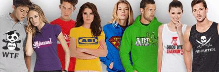 Abishop Textilien bedrucken: Shirts, Hoodies, Tanktops, Pullis, Polos, Shirts