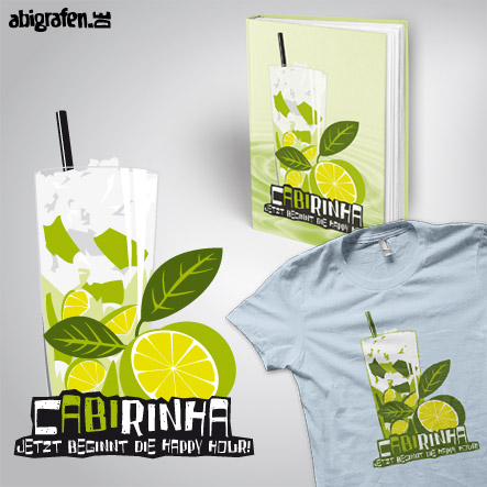 Abisprüche Alkohol: cABIrinha – Produktbeispiel Abibuch & Abishirt