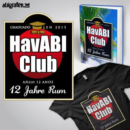 Abisprüche Alkohol: HavABI Club – Produktbeispiel Abibuch & Abishirt