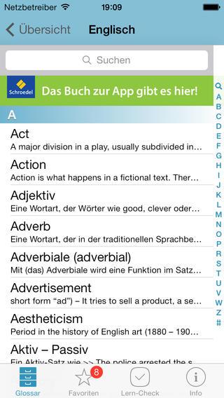 Kostenlose App für's Abitur lernen: Der mobile Vokabeltrainer von Pons hilft euch bei den Abiturvorbereitungen, Scrennshot Vokabeltrainer App Abitur 1