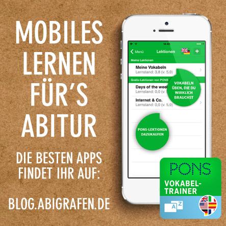 Kostenlose App für's Abitur lernen: Der mobile Vokabeltrainer von Pons hilft euch bei den Abiturvorbereitungen