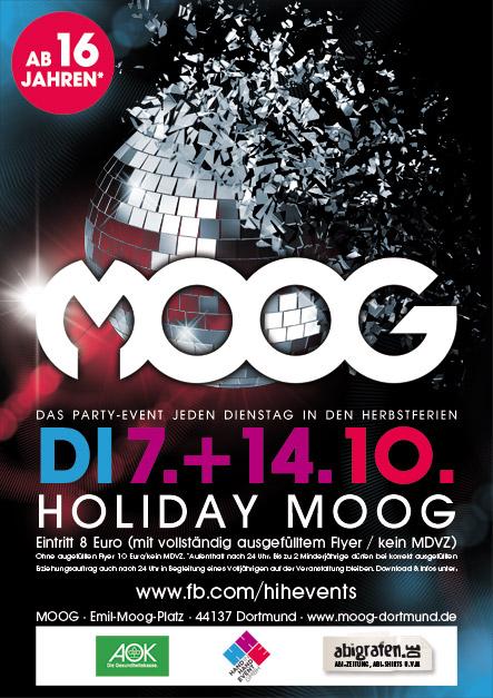Holiday Moog: Das Partyevent für Schüler ab 16 Jahren in Dortmund