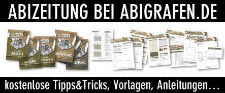 Abiturzeitung drucken. Kostenlose Tipps & Tricks, Vorlagen und Anleitungen bei www.abigrafen.de