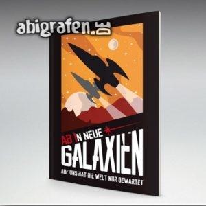 ABIn neue Galaxien Abi Motto / Abizeitung Cover Entwurf von abigrafen.de®