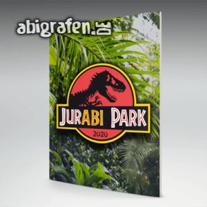 JurABI Park Abi Motto / Abizeitung Cover Entwurf von abigrafen.de®