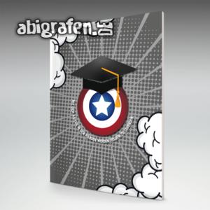 Mit dem Abi in den Händen werden Helden zu Legenden Abi Motto / Abizeitung Cover Entwurf von abigrafen.de®