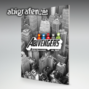 Abivengers Abi Motto / Abizeitung Cover Entwurf von abigrafen.de®