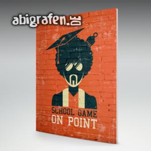 School Game On Point Abi Motto / Abizeitung Cover Entwurf von abigrafen.de®