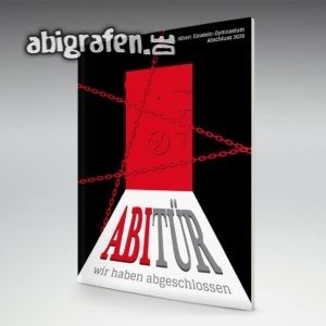 ABItür Abi Motto / Abizeitung Cover Entwurf von abigrafen.de®