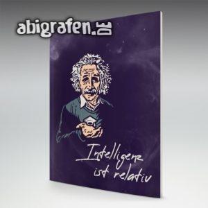 Intelligenz ist relativ Abi Motto / Abizeitung Cover Entwurf von abigrafen.de®