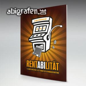 RentABIlität Abi Motto / Abizeitung Cover Entwurf von abigrafen.de®