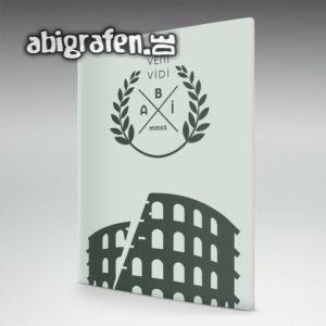 veni, vidi, abi Abi Motto / Abizeitung Cover Entwurf von abigrafen.de®