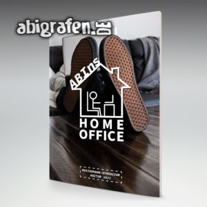 ABIns Home Office Abi Motto / Abizeitung Cover Entwurf von abigrafen.de®