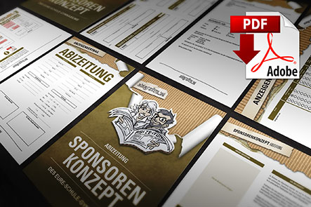 Abizeitung Sponsoring: Werbepartner finden. Vorlagen bei abigrafen.de