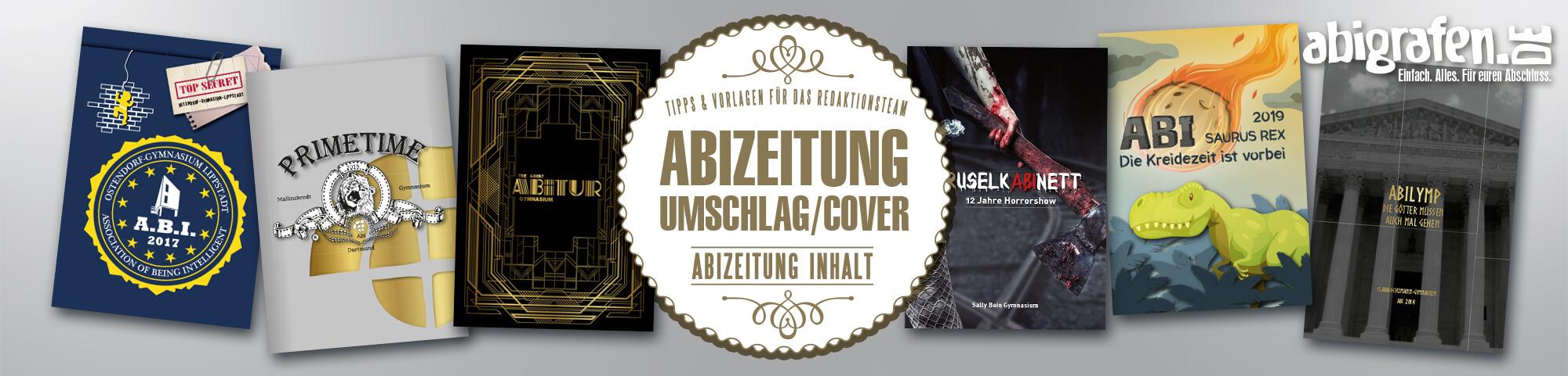 Ideen & Beispiele für das Cover von Abizeitung/Abibuch (Umschlaggestaltung)