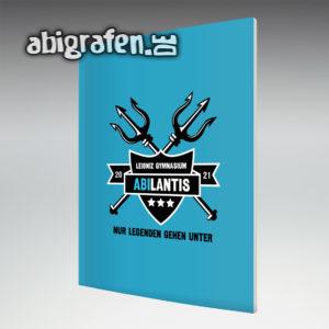 ABIlantis Abi Motto / Abizeitung Cover Entwurf von abigrafen.de®