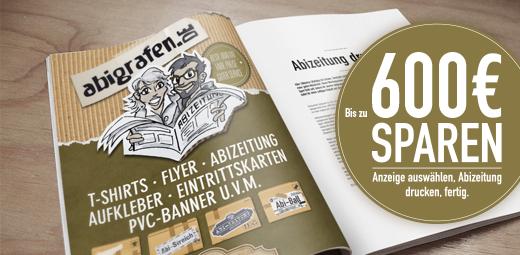 Abizeitung kaufen bei abigrafen.de - Sponsoring Werbeanzeigen