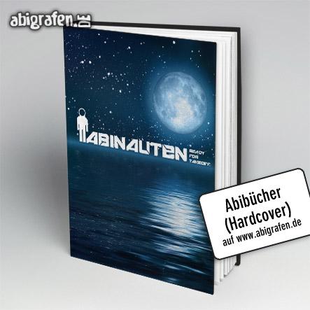 Abibücher (Hardcover Umschlag) mit gestaltetem Abschluss Motto bei abigrafen.de