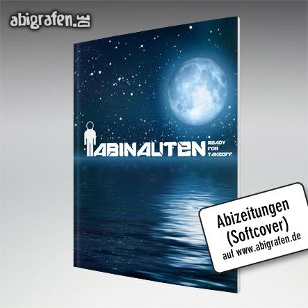 Abizeitungen (Softcover Umschlag) mit gestaltetem Abschluss Motto bei abigrafen.de