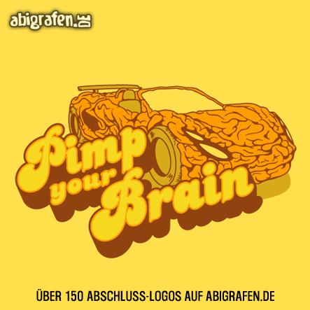 Abschlusslogo für Abishirt, Abizeitung, Abibuch & Co: pimp your brain