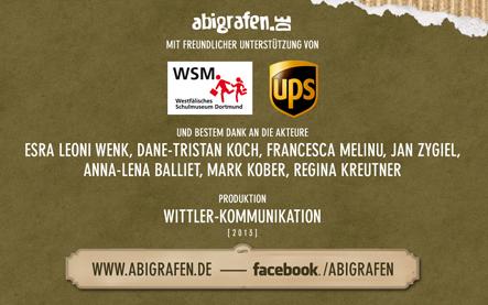 abigrafen Video youtube. Dank an: Westfälisches Schulmuseum, UPS, Wittler Kommunikation.
