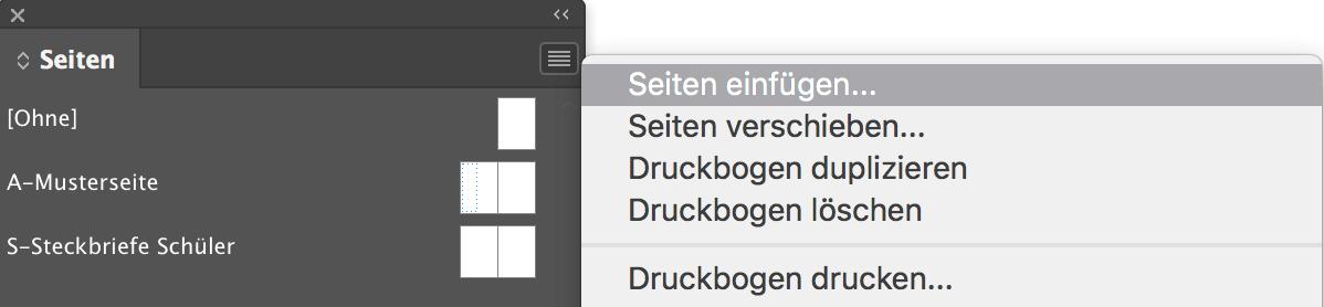 abigrafen.de - Schritt für Schritt Anleitung: Arbeiten mit Musterseiten [InDesign®]