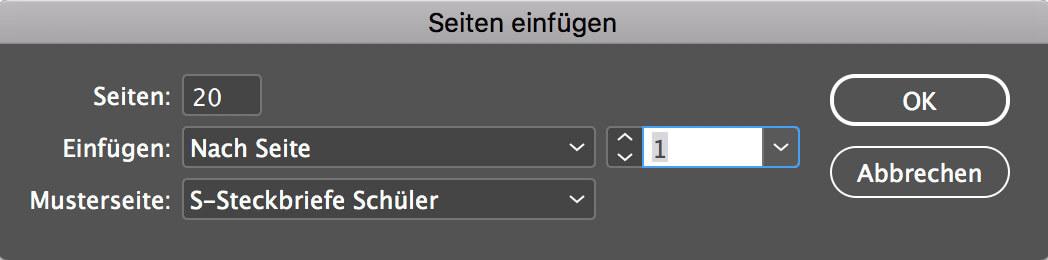 abigrafen.de - Schritt für Schritt Anleitung: Musterseiten bearbeiten InDesign®