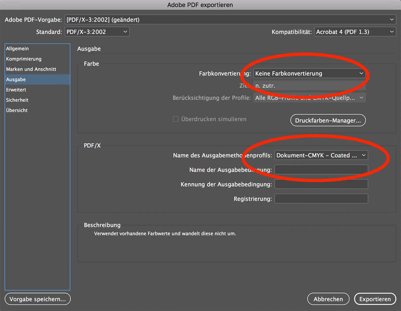 abigrafen.de - Schritt für Schritt Anleitung: Druck-PDF exportieren aus InDesign®