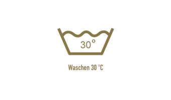 Siebdruck Jutetasche/Bio-Tasche Textilpflegesymbole - Abibeutel waschen
