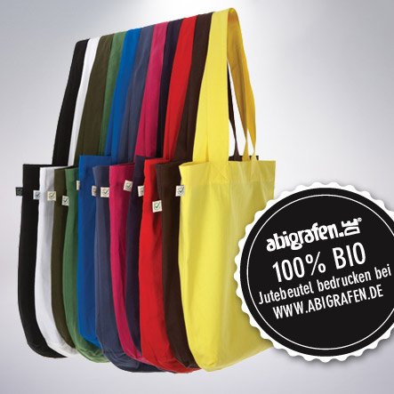 individuell bedruckte Jutebeutel/Baumwolltaschen Bio-Qualität