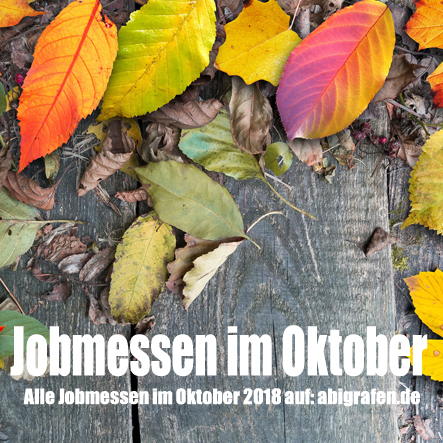 Jobmessen im Oktober 2018