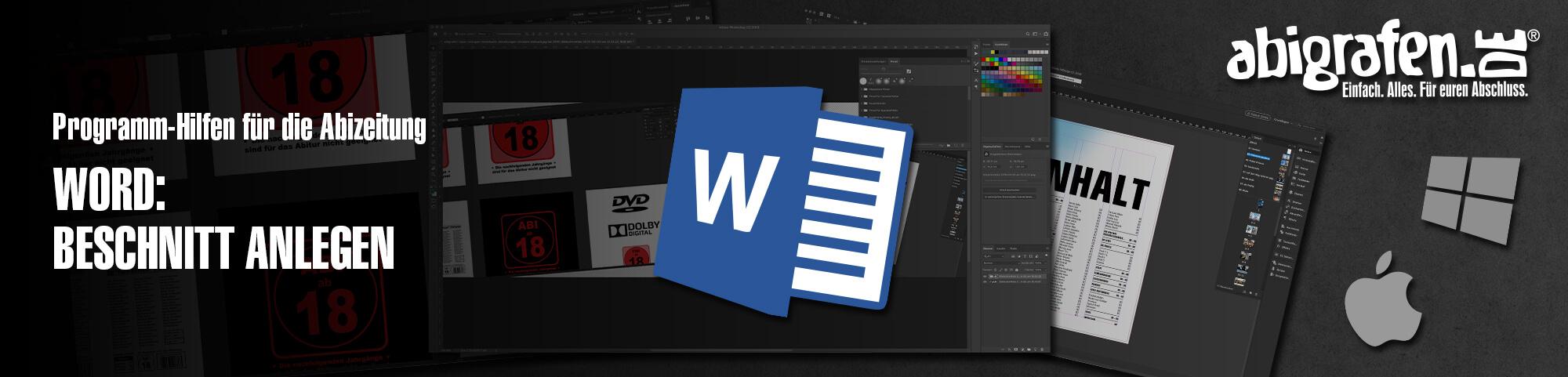 Programm-Hilfen für die Abizeitung – Word: Beschnitt anlegen leicht selber gemacht | Anschnitt Einstellungen in Microsoft Word vornehmen
