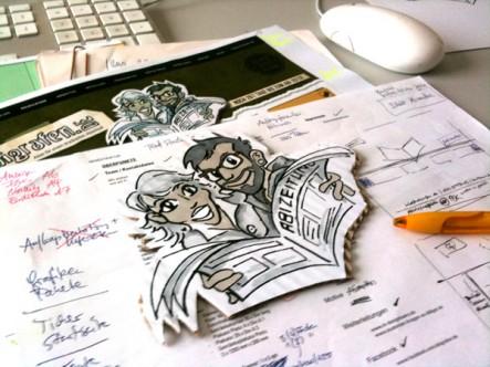 Erste Skizzen und Ideen für den abigrafen-Onlineshop