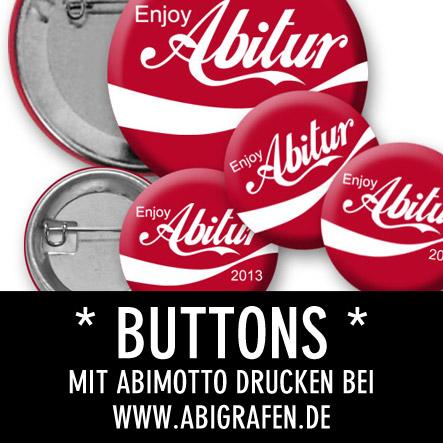 Abi Druckerei: Buttons mit Abilogos / Abisprüchen bedrucken