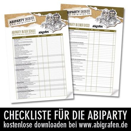 Checkliste Abiparty kostenlos