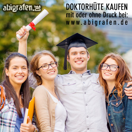 Abispruch auf Doktorhüte drucken mit abigrafen.de
