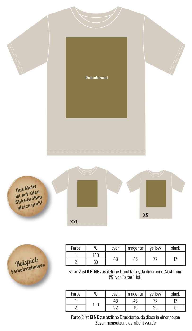 kostenlose Druckvorlage für Abishirts/Abschlussshirts (Abi Motto + Stufenliste)