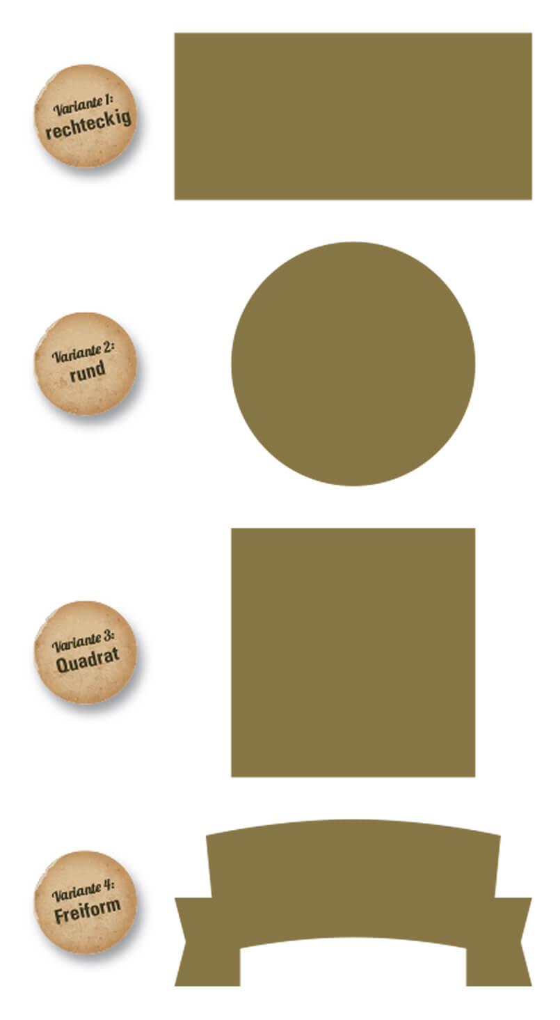 kostenlose Druckvorlage für Pins/Anstecknadeln (bedruckt, geprägt, Relief)