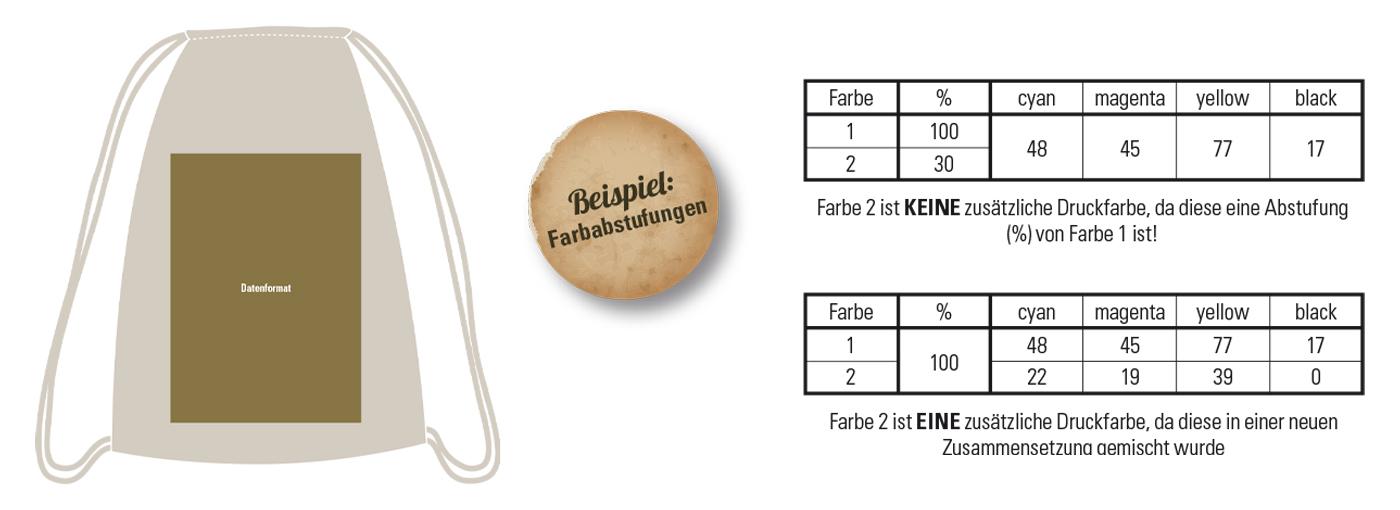 Druckvorlagen Turnbeutel / Abibag