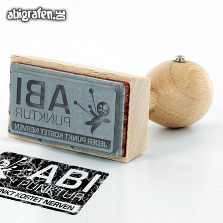 Drucksachen für die Abi Party: individuelle Holz-Stempel