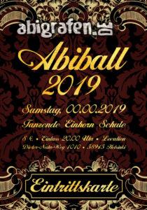 Eintritsskartenbeispiel Abiball