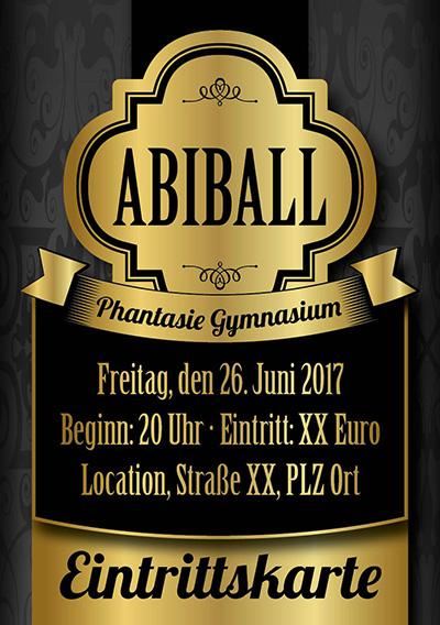 Abishop: Eintrittskarten Abiball drucken