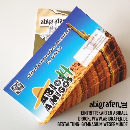 Eintrittskarten Druck für Abiball und Abiparty - gut & günstig bei abigrafen.de